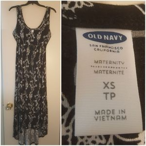 Old Navy XS Dress Black Floral